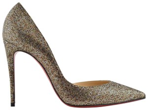 Christian Louboutin Iriza Pigalle Stiletto Leopard Fur gold Pumps