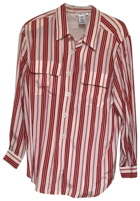 Preload https://img-static.tradesy.com/item/24618250/talbots-red-and-off-white-vintage-pure-silk-striped-shirt-blouse-button-down-top-size-10-m-0-1-650-650.jpg