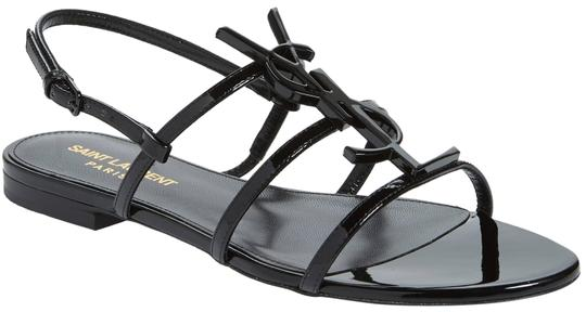 Preload https://img-static.tradesy.com/item/24618253/saint-laurent-black-ysl-strappy-monogramme-flat-sandals-size-eu-39-approx-us-9-regular-m-b-0-1-540-540.jpg