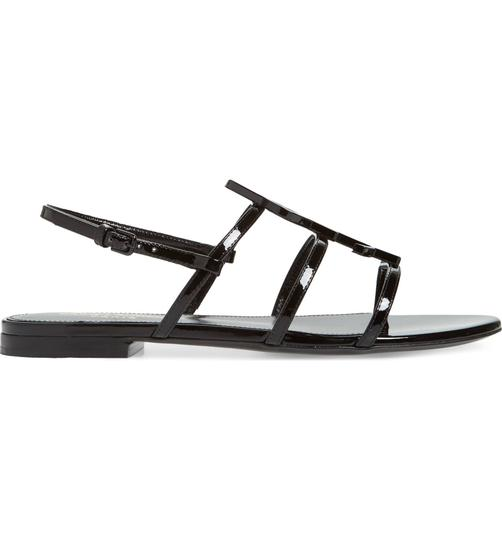 Saint Laurent Ysl Monogramme Cassandra Flats black Sandals