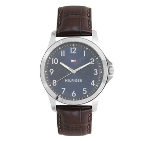 Tommy Hilfiger Tommy Hilfiger Analog Blue Dial Brown Leather Band Men's Watch