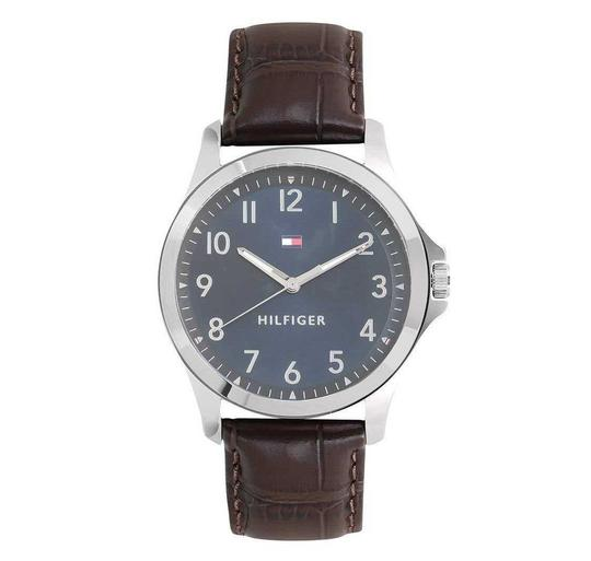 Preload https://img-static.tradesy.com/item/24618271/tommy-hilfiger-blue-brown-analog-dial-leather-band-men-s-watch-0-0-540-540.jpg