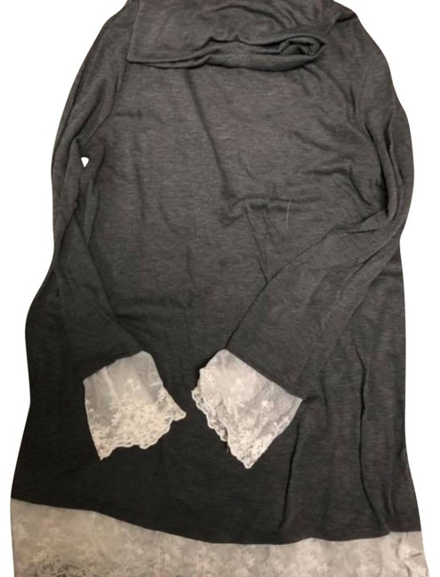 Preload https://img-static.tradesy.com/item/24618297/gray-and-lace-sweater-blouse-size-14-l-0-1-650-650.jpg