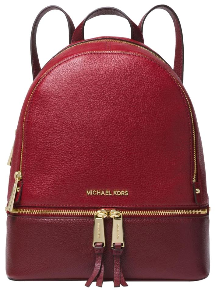 db76b5f8e071 Michael Kors Rhea Medium 30f8gezb2t Red Maroon Oxblood Multicolor ...