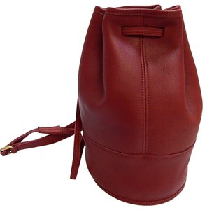 Coach Mint Vintage Early Style Bixby #9984 Style Brass Shoulder/Backpack Satchel in red buttery soft leather