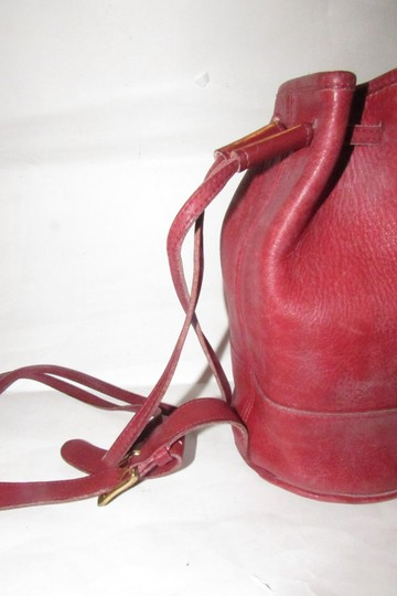 Coach Mint Vintage Early Style Bixby #9984 Style Shoulder/Backpack Satchel in red buttery soft leather and brass hardware