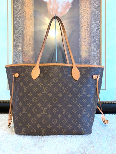 Louis Vuitton Monogram Mm Neverfull Canvas Shoulder Bag