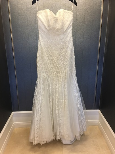 Preload https://img-static.tradesy.com/item/24618474/ivory-lace-tulle-unique-and-silver-thread-mermaid-strapless-traditional-wedding-dress-size-8-m-0-0-540-540.jpg