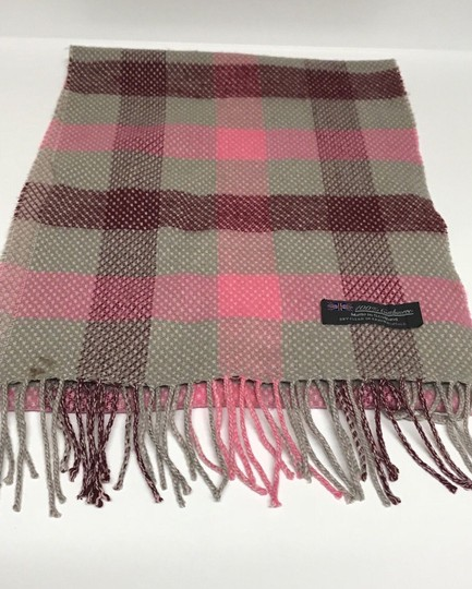 Unbranded 100% Cashmere Scarf Pink Plaid/Checks