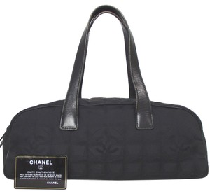 Chanel Travel Line Beige Tote in Black