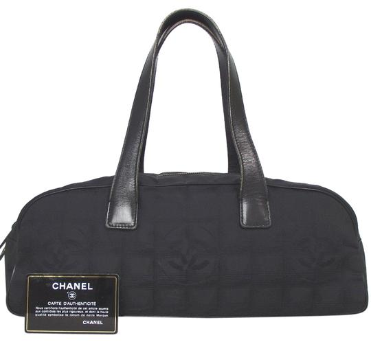 Preload https://img-static.tradesy.com/item/24618527/chanel-travel-line-black-jacquard-tote-0-1-540-540.jpg