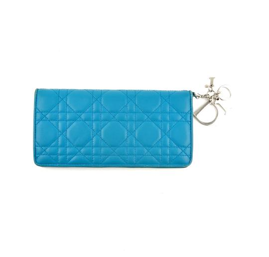 Preload https://img-static.tradesy.com/item/24618579/dior-blue-lady-dior-carnage-leather-clutch-italy-wallet-0-0-540-540.jpg
