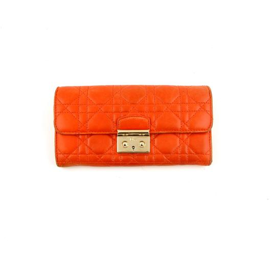 Preload https://img-static.tradesy.com/item/24618587/dior-orange-lady-dior-carnage-leather-clutch-italy-wallet-0-0-540-540.jpg