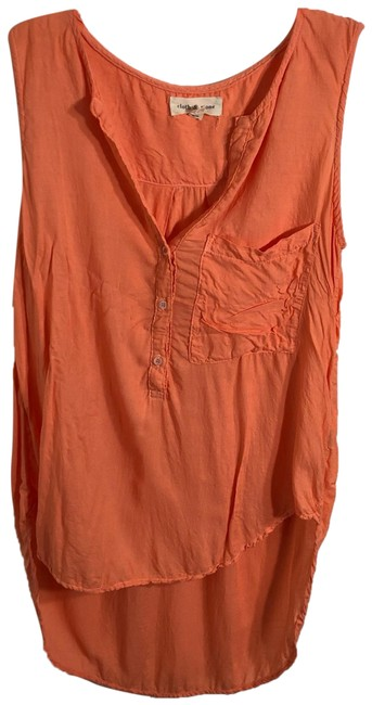 Preload https://img-static.tradesy.com/item/24618621/cloth-and-stone-orange-collared-sleeveless-blouse-button-down-top-size-6-s-0-1-650-650.jpg