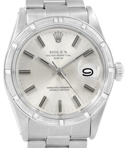 Rolex Rolex Date Vintage Silver Dial Stainless Steel Mens Watch 1501