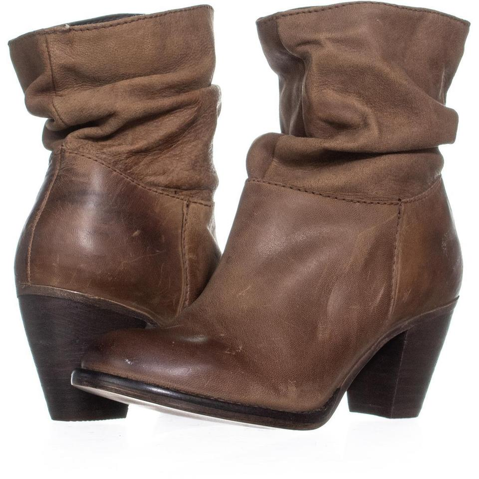 2ca44bcccb4 Steve Madden Brown By Welded Mid-calf Stacked 346 Cognac Boots Booties