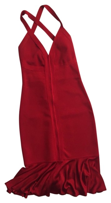 Item - Red Bandage Mid-length Cocktail Dress Size 10 (M)
