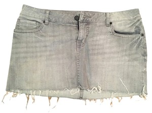 Charlotte Russe Mini Skirt Grey
