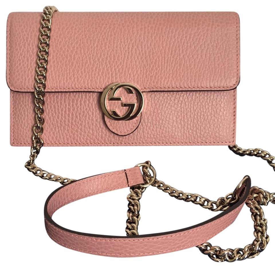 e3072e7293bb5f Gucci Wallet on Chain Pink Cross Body Bag - Tradesy