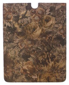Dolce&Gabbana D10031 Brown Floral Leather Ipad Tablet Ebook Cover (25 cm x 20 cm)