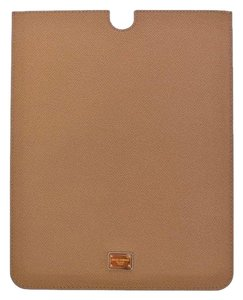 Dolce&Gabbana D10003 Beige Leather Ipad Tablet Ebook Cover (25 cm x 20 cm)