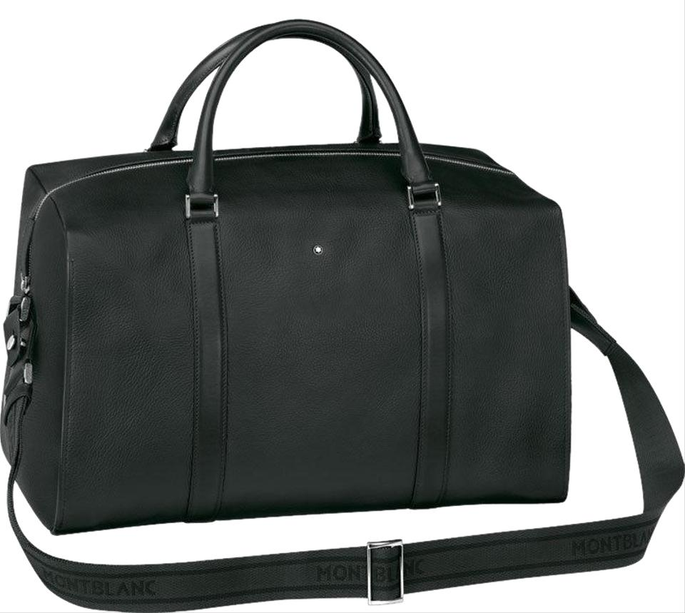 8e83bf0be6bd Montblanc Duffle Meisterstuck Soft Grain Small Black Cowhide Leather ...