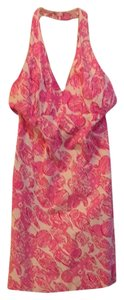 Lilly Pulitzer short dress Pink/White - Night Owls print Halter on Tradesy
