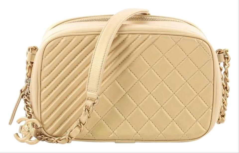 77b70b803cc4 Chanel Camera Boy Coco Quilted Small Gold Leather Shoulder Bag - Tradesy