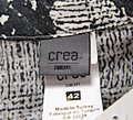 Crea Concept Black White Grey Graphite Ramie Long Abstract Pattern Bd Tunic Mid-length Short Casual Dress Size 12 (L) Crea Concept Black White Grey Graphite Ramie Long Abstract Pattern Bd Tunic Mid-length Short Casual Dress Size 12 (L) Image 2