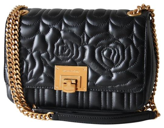 Michael Kors Vivianne Chain Quilted Floral Sloan Black