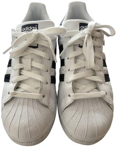 adidas Sneaker Superstar white/ metallic purple stripe Athletic
