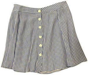 Forever 21 Casual Gingham Mini Skirt Royal Blue/White