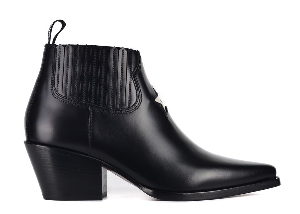 Dior Black Womens Leather L.a. Western Ankle C3325 Boots Booties ... 2405f5ceb5