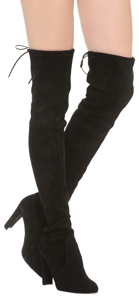 81b58a02f87 Stuart Weitzman Black Over Knee Highland Boots Booties. Size  US 9.5 Regular  (M ...