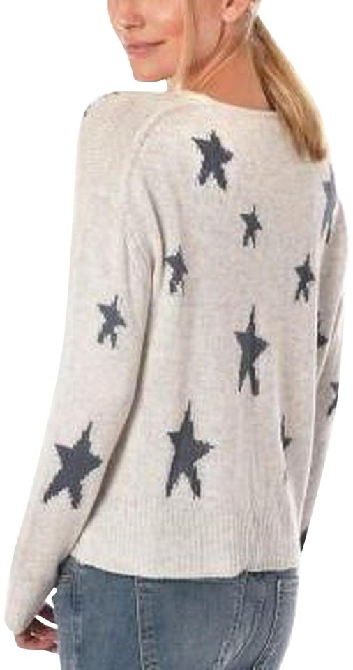 Acrobat Star Knit Light Grey Blue Sweater - Tradesy dddab97adf44