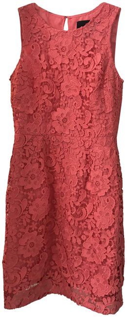 Item - Pink Lace - Mid-length Cocktail Dress Size 2 (XS)