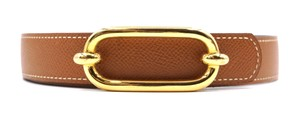 Hermès 24Mm RARE gold buckle Belt Size 72 Reversible leather Belt
