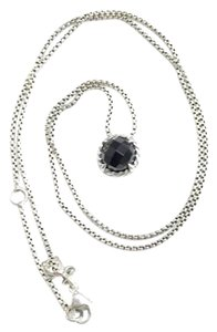 "David Yurman GORGEOUS!! David Yurman Black Onyx Faceted ""Chatelaine"" Necklace Sterling Silver Adjustable!! 16""-18"" 100% Authentic Guaranteed!! Comes with Original David Yurman Pouch!!"