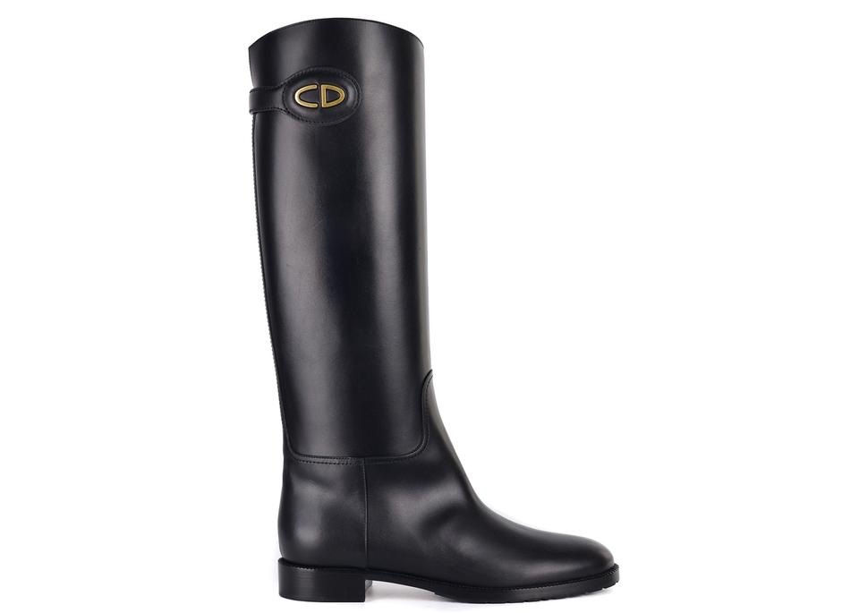bf5e8a03 Dior Black Womens Leather Diorable Knee High C3307 Boots/Booties Size US 7  Regular (M, B) 69% off retail
