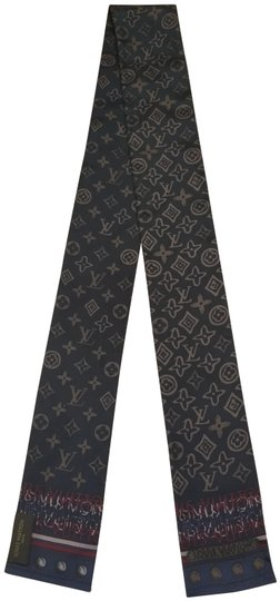 Preload https://img-static.tradesy.com/item/24620759/louis-vuitton-blue-red-silver-silk-monogram-twilly-scarfwrap-0-2-540-540.jpg