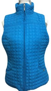 Jane Ashley Quilted Stand Up Collar Pockets Vest