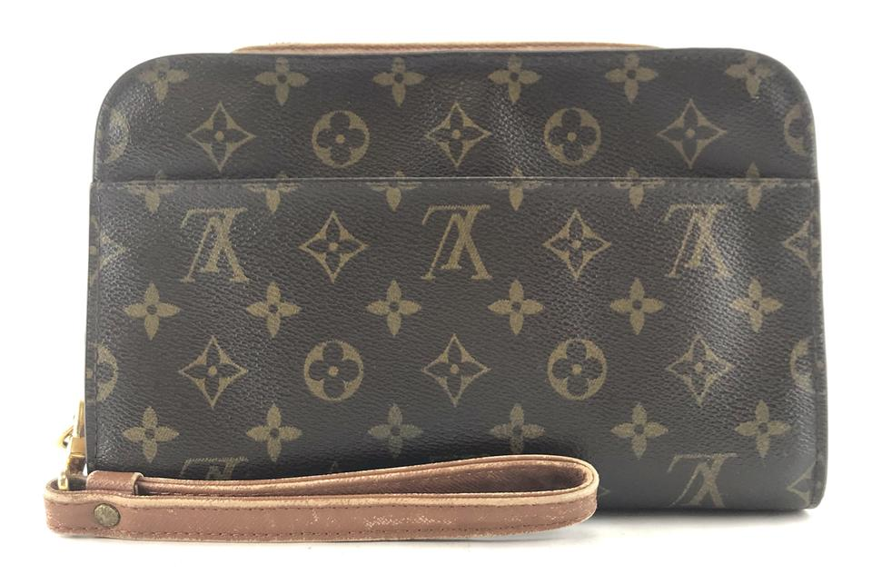Louis Vuitton Orsay  26172 Wristlet Cosmetic Evening Makeup Beauty Monogram  Coated Canvas Clutch 93b54f1a0833d