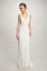 Theia Ivory Caitlin 890062 Vintage Wedding Dress Size 4 (S)