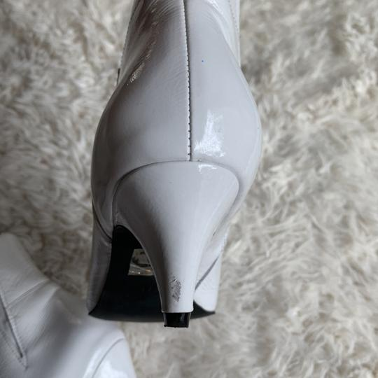Jeffrey Campbell Patent Leather Pointy White Boots