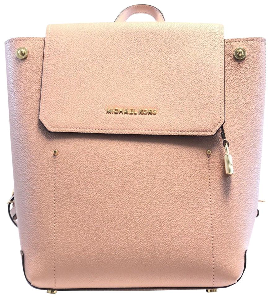 b64bdf6221d8 Michael Kors New Womens Hayes Medium Flap Pink Leather Backpack ...