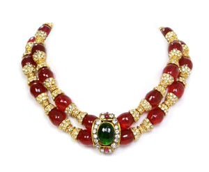 Chanel Chanel Vintage '83 Red Gripoix and Crystal Choker