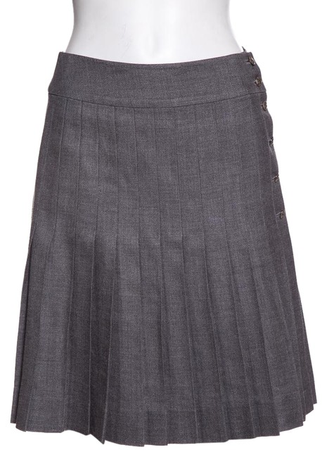 Item - Grey Pleated Skirt Size 6 (S, 28)