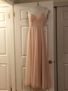 Watters & Watters Bridal Blush Tulle Tinsley #40844565 Feminine Bridesmaid/Mob Dress Size 4 (S)
