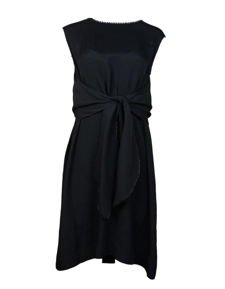 4701d4011e5eb8 Lela Rose Black Sleeveless Trapeze Mid-length Work/Office Dress Size ...
