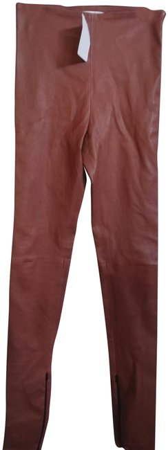 Item - Rose XS Leather with Zippers On Leg Pants Size 0 (XS, 25)